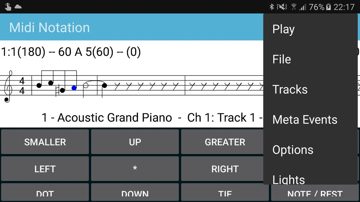 Android Midi Notation - compose music on your android phone