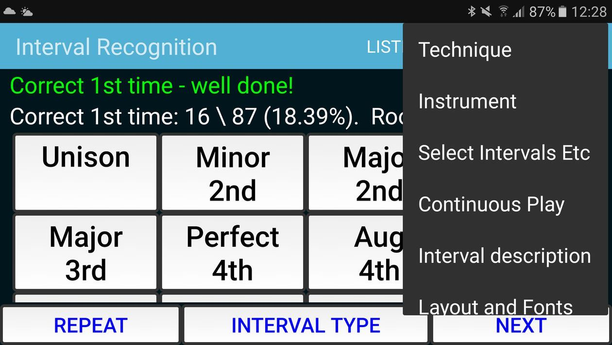 Interval Recognition - ear training app for Android